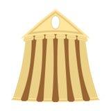 Tempio greco di stile del fumetto su un fondo bianco Illu di vettore Fotografia Stock Libera da Diritti
