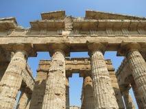 Tempio greco a Paestum Italia Fotografie Stock Libere da Diritti