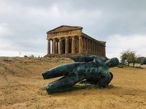 Tempio Griekenland Agrigento stock foto's