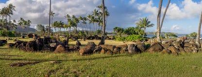 Tempio hawaiano antico, o Heiau, Fotografia Stock