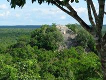 Tempio I di Calakmul immagini stock libere da diritti