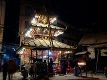 Tempio indù alla notte fotografie stock libere da diritti