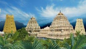 Tempio indù di Narasimha di vista panoramica Fotografia Stock Libera da Diritti