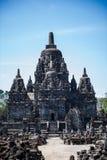 Tempio indù di pietra antico, Candi Sewu 5 Immagini Stock Libere da Diritti