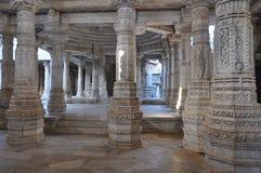 Tempio indù indiano - colonna di marmo Fotografia Stock