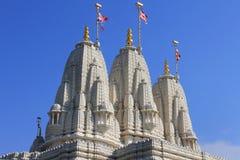 Tempio indù Shri Swaminarayan Mandir Immagine Stock