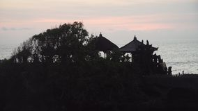 Tempio indù sul lotto Bali, Indonesia di Tanah dell'isola fotografia stock libera da diritti