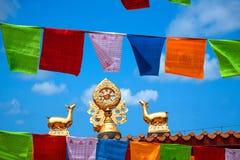 Tempio Jinyu Guanyin di Sanya Nanshan Buddhist Fotografie Stock Libere da Diritti