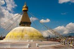 Tempio Kathmandu di Boudanath Immagini Stock