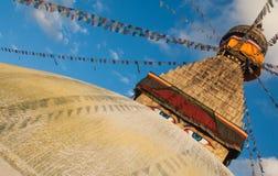 Tempio Kathmandu di Boudanath Immagini Stock Libere da Diritti
