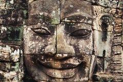 Tempio khmer di Bayon a Angkor in Cambogia Immagine Stock Libera da Diritti