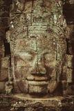Tempio khmer di Bayon a Angkor in Cambogia Immagini Stock Libere da Diritti