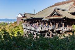 Tempio Kyoto, Giappone di Kiyomizu-dera Fotografia Stock