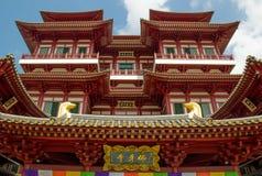 Tempio luminoso del dente di Buddha a Singapore Fotografie Stock Libere da Diritti