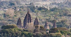 Tempio magnifico di Prambanan fotografie stock