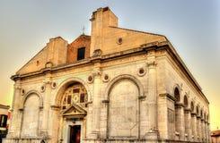 Tempio Malatestiano, la chiesa della cattedrale fotografia stock