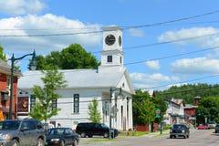 Tempio massonico, Johnson, Vermont Immagini Stock Libere da Diritti