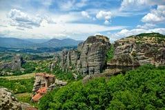 Tempio in montagne Immagine Stock