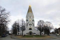 Tempio-monumento di gloria russa in Lipsia, Germania Fotografia Stock Libera da Diritti