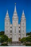 Tempio mormonico di LDS a Salt Lake City Utah Fotografie Stock