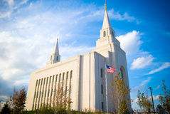 Tempio mormonico, Kansas City Fotografie Stock Libere da Diritti