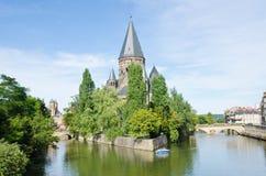 Tempio Neuf, Metz immagine stock libera da diritti