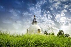 Tempio Nuova Delhi India di pace di stupa di Shanti Immagini Stock Libere da Diritti