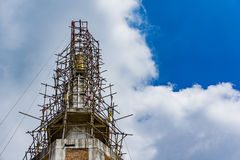 Tempio nuovo di costruzione Fotografie Stock