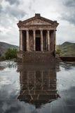 Tempio pagano di Garni, il tempio ellenistico in Repubblica Armena fotografia stock libera da diritti