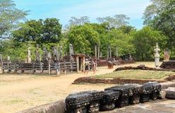 Tempio in Polonnaruwa, Sri Lanka Fotografie Stock