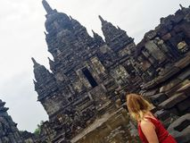 Tempio Prambanan di Sewu Fotografie Stock