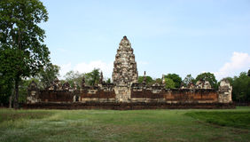 Tempio, Prasat Sadok Kok Thom, Tailandia Fotografie Stock Libere da Diritti
