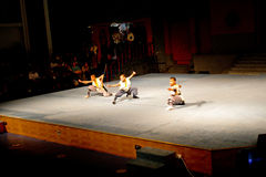 Tempio-prestazione di Shaolin fotografia stock libera da diritti