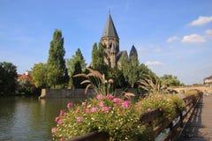 Tempio protestante in Francia Immagine Stock