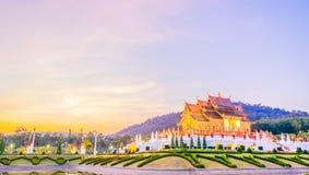Tempio reale della flora (ratchaphreuk) in Chiang Mai, Tailandia Fotografia Stock