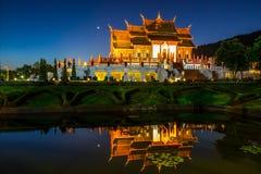 Tempio reale Ratchaphruek della flora Fotografia Stock