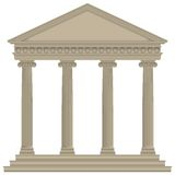 Tempio romano/greco Fotografie Stock