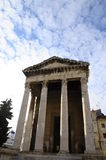 Tempio romano in Pola, Croazia Fotografia Stock Libera da Diritti