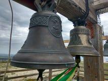 Tempio russo delle campane di chiesa, Russia La foto è regolato Foto di arte Fotografia Stock