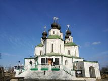 Tempio russo delle campane di chiesa, Russia La foto è regolato Foto di arte Immagini Stock Libere da Diritti