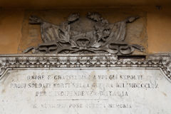 Tempio sacro dell'italiano Immagini Stock Libere da Diritti