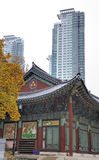 Tempio Seoul di Bongeunsa Immagini Stock Libere da Diritti