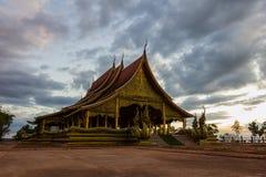 Tempio Sirindhorn Wararam Phuproud, artistico, Tailandia, pubblico pl Immagine Stock Libera da Diritti