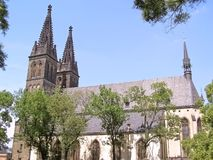 Tempio St Peter e Paul a Praga Vysehrad Immagine Stock Libera da Diritti