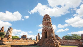 Tempio storico di Wat Mahathat dei luoghi pubblici stock footage