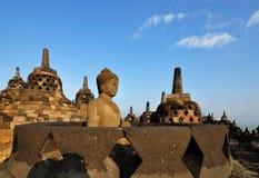 Tempio Stupas di Borobudur Fotografia Stock Libera da Diritti