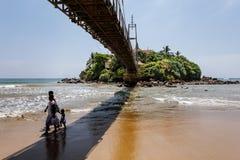 Tempio su un'isola in Matara La Sri Lanka fotografia stock