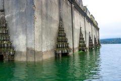 Tempio subacqueo di angolo fotografie stock