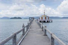 Tempio sul mare Immagine Stock