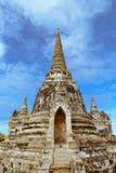 Tempio tailandese in Ayudhya, Tailandia Fotografia Stock Libera da Diritti